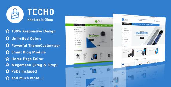 电子产品响应PrestaShop 1.7主题模板Techo