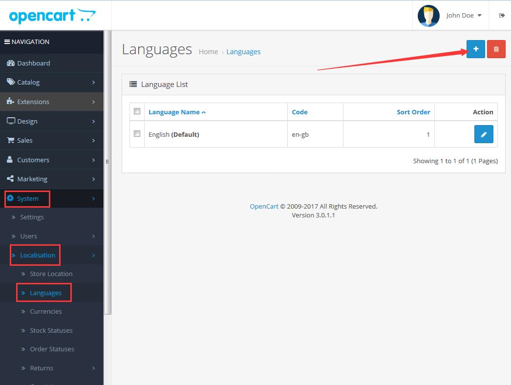 OpenCart3版本安装简体中文语言包图文教程