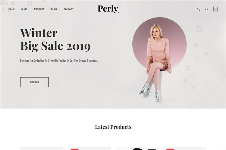 时尚服装Shopify主题Perly