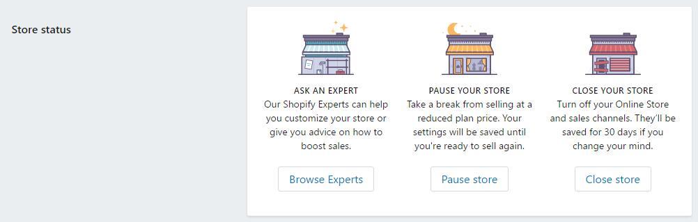 shopify关闭店铺注销的详细操作步骤教程