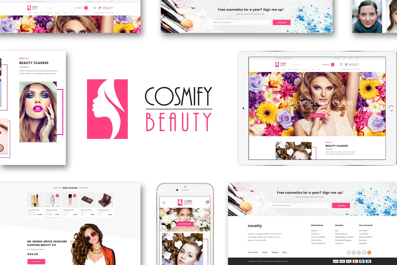 时尚化妆品Shopify主题Cosmify