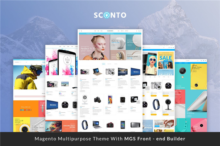 高级Magento 2和1主题模板Sconto