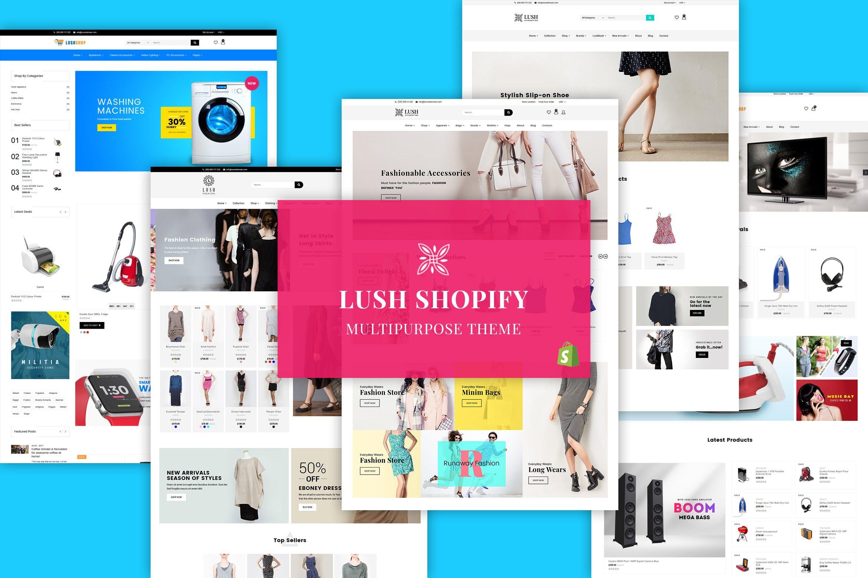 多功能服装箱包商店Shopify主题LUSH