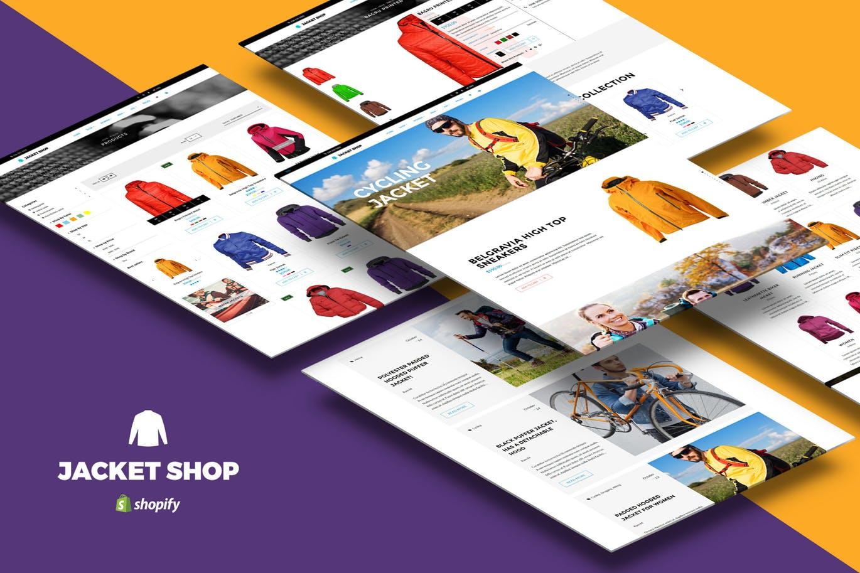 Shopify夹克运动服装商店主题风格Jacket Shop