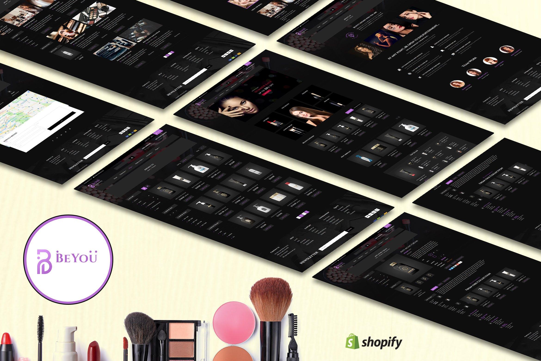 Shopify主题模板适合化妆品类目Be-You