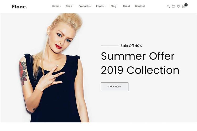 极简主义电子商务Shopify主题Flone