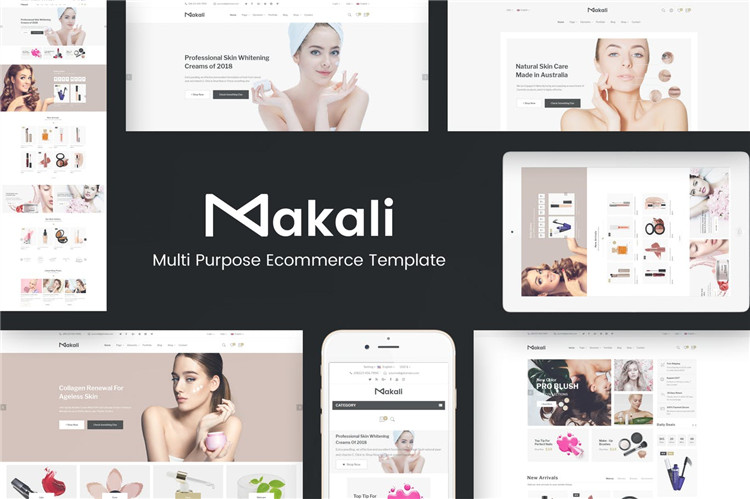 化妆品及美容OpenCart主题模板Makali