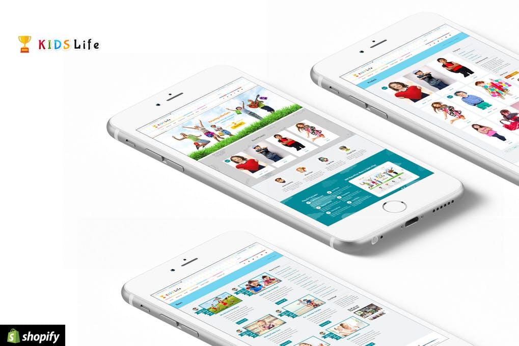 幼儿园儿童网站风格shopify主题KidsLife