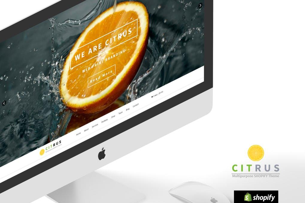 Citrus单品产品推广商店shopify主题