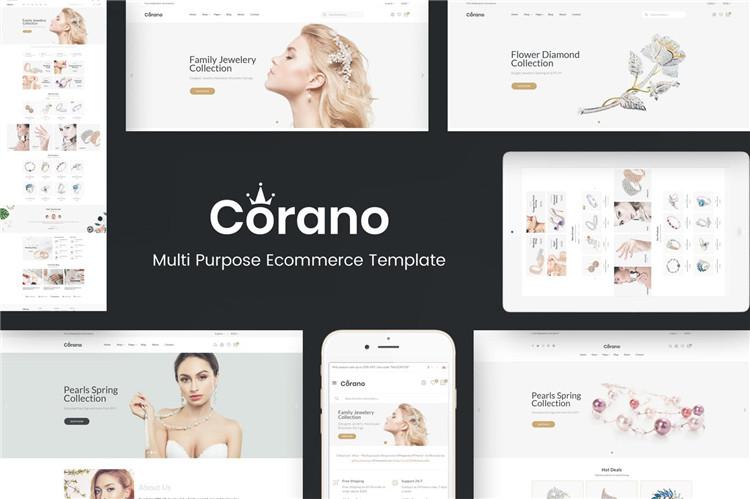 珠宝风格OpenCart主题模板Corano