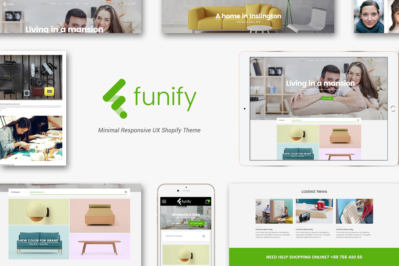 家居家具响应式Shopify主题Funify
