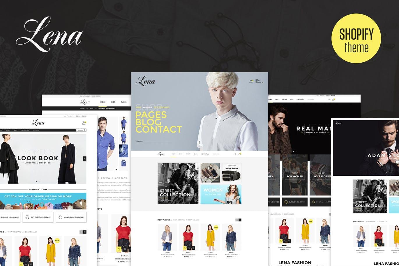 响应式多用途商店Shopify主题Lena