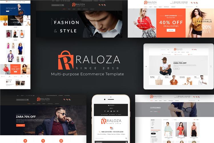 时尚响应PrestaShop主题Raloza