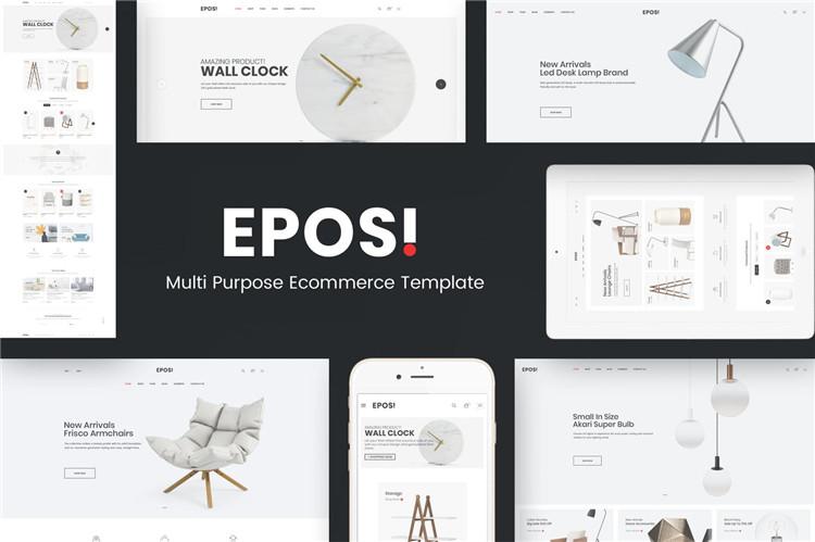 家居装饰配件OpenCart主题模板Eposi