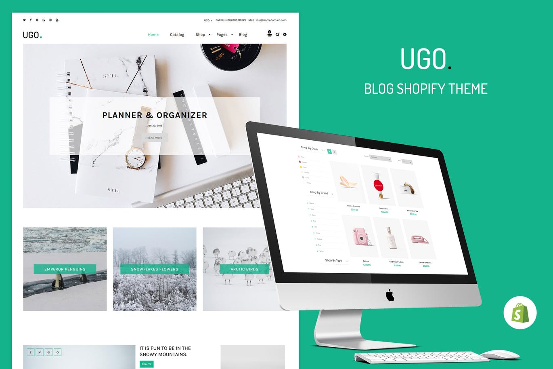 博客商店Shopify主题Ugo