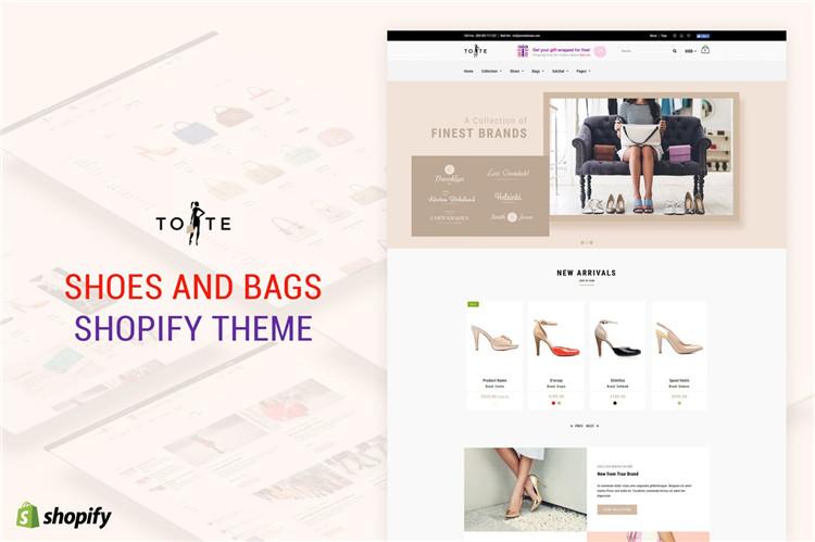 鞋子和包包Shopify主题Tote