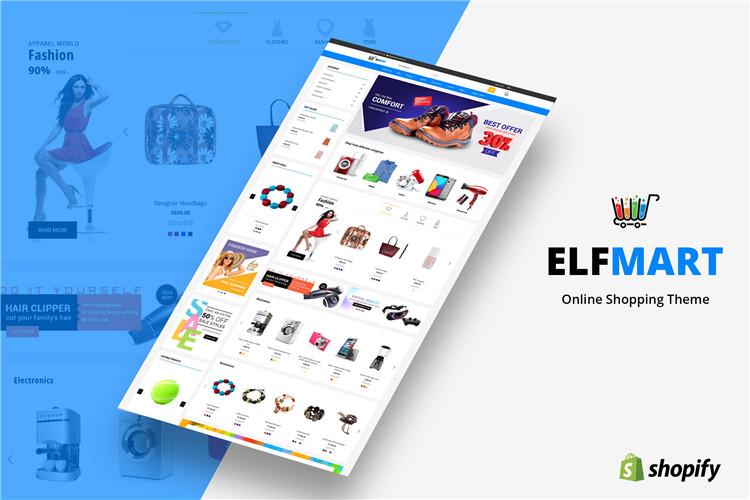 多用途商城Shopify主题Elfmart
