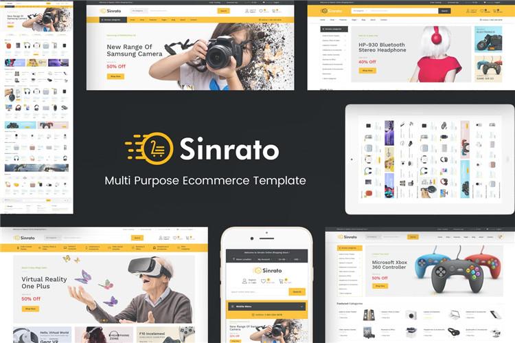 响应数码电子产品多用途Magento模板Sinrato