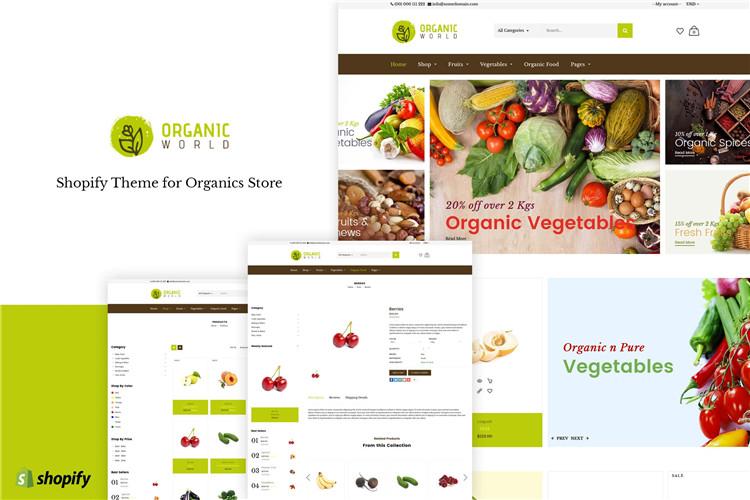 shopify主题营养师和有机食品Organic