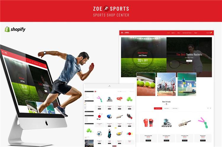 体育商店Shopify主题Zoe