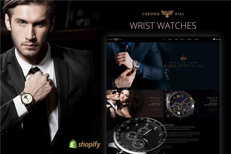高端手表品牌shopify主题Chrono Dial
