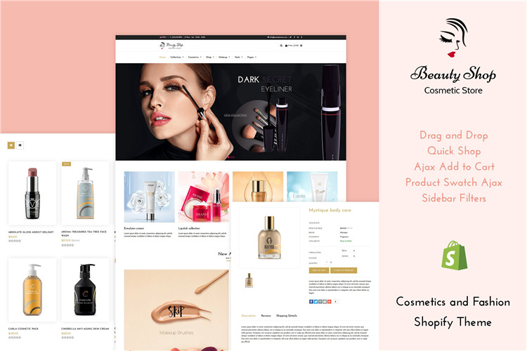 化妆品和时尚美容Shopify主题Beauty Store