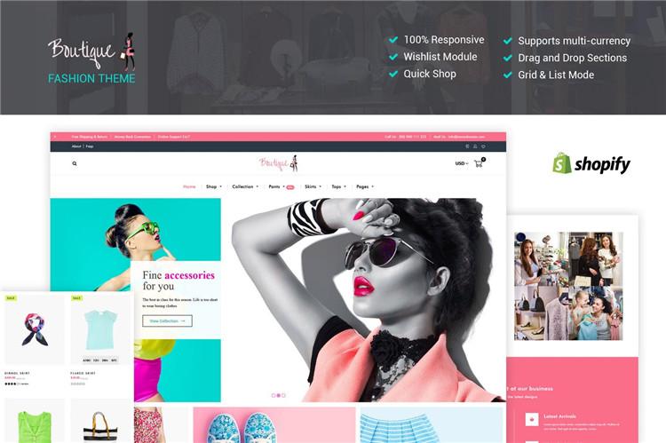 响应Shopify女装主题Fashion Boutique