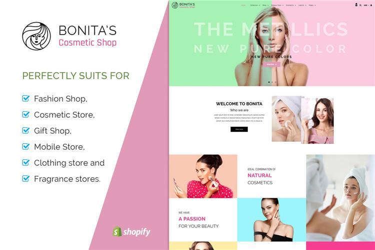 化妆品,沙龙Shopify主题Bonita