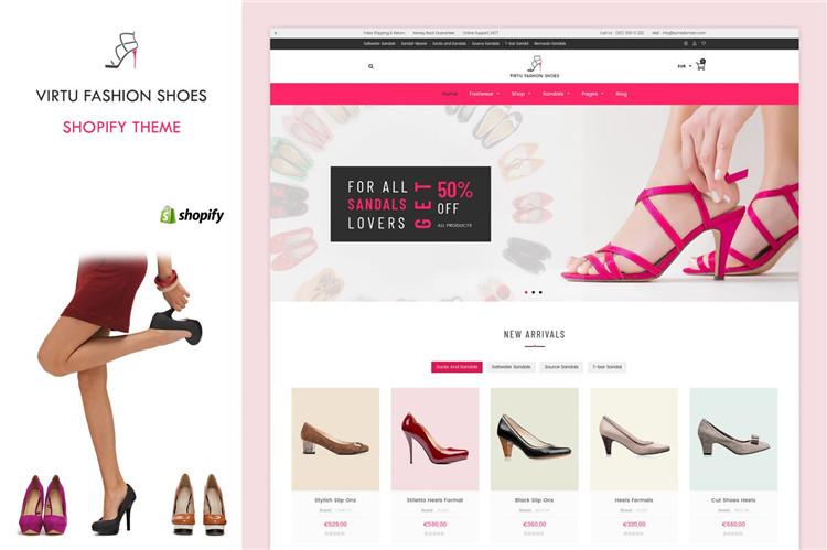 时尚鞋店Shopify主题Virtu