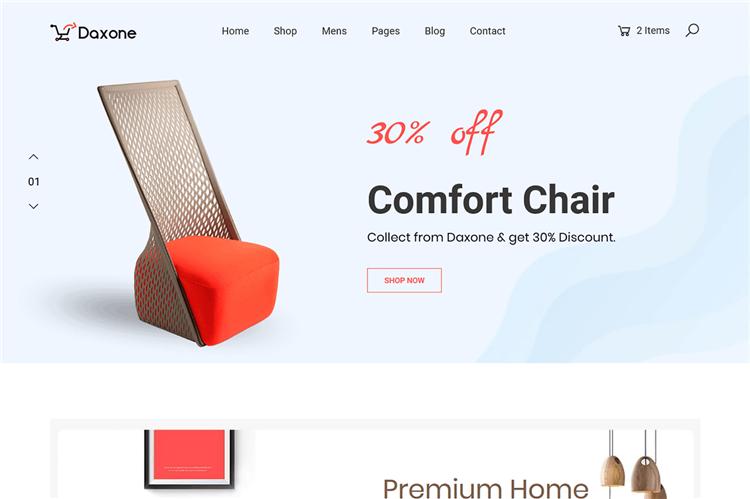 响应式时尚电子商务HTML模板Bootstrap 4框架