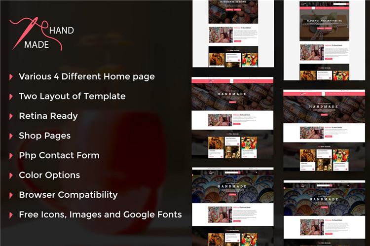 手工制作传统手艺公司网站HTML响应式模板Bootstrap