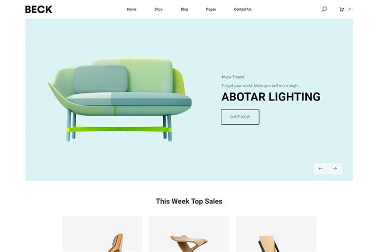 家具电子商务Bootstrap 4模板