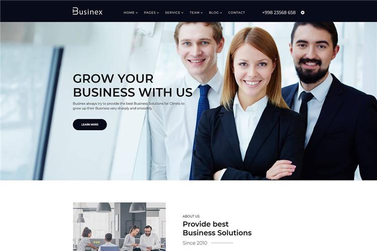 公司业务企业官网介绍Bootstrap4模板