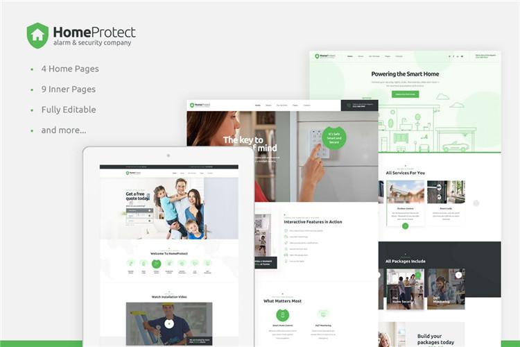 Bootstrap模板智能家电警报安全系统企业官网HTML模板