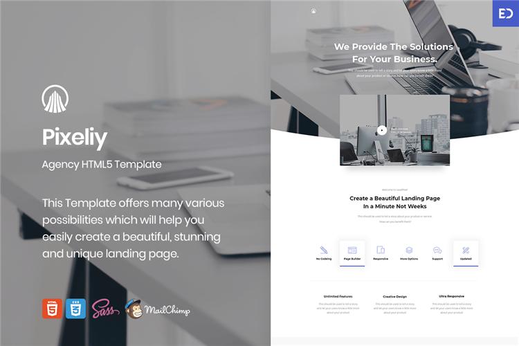商业着陆页HTML登陆页面Bootstrap模板