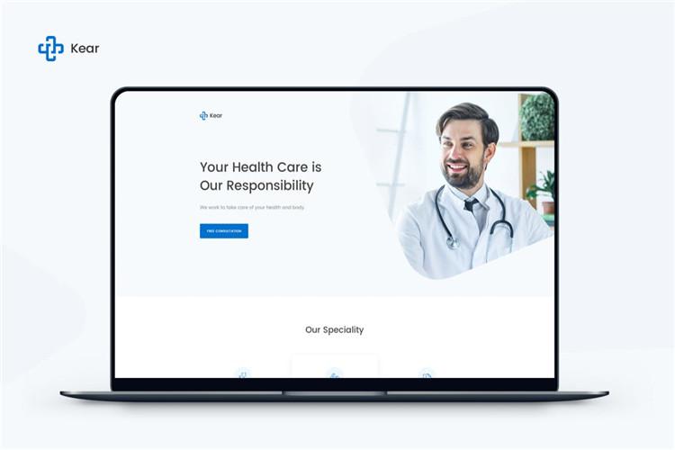 医疗保健网站着陆页面Bootstrap模板