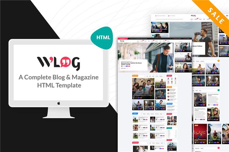 博客和杂志网站HTML模板Bootstrap 4构建