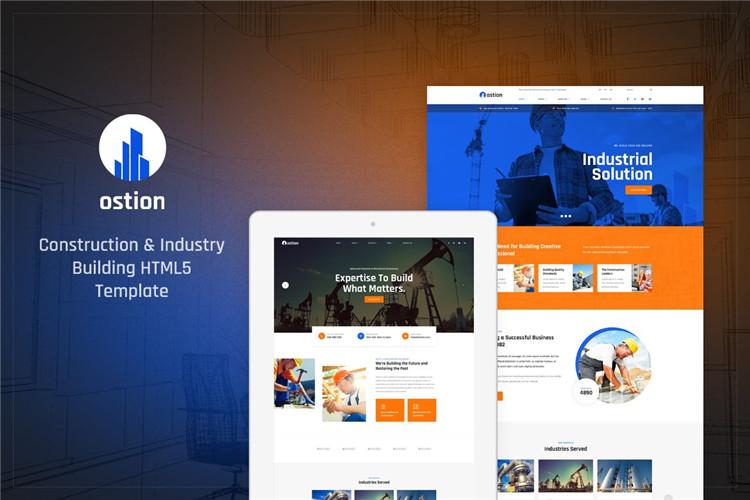 建筑和工业建筑公司网站Bootstrap模板HTML