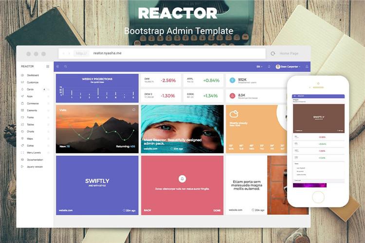 Bootstrap后台管理模板html模板reactor