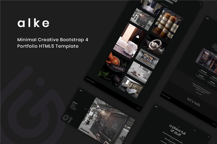 博客自由职业者网站HTML模板