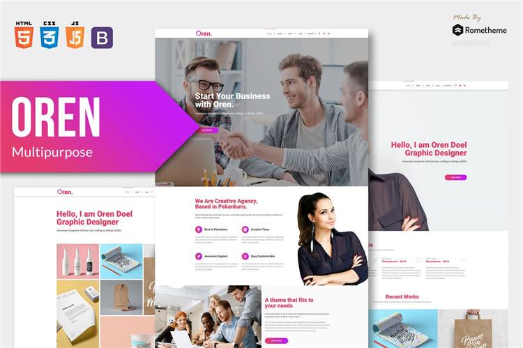 响应式多用途企业网站HTML模板bootstrap 4.2框架