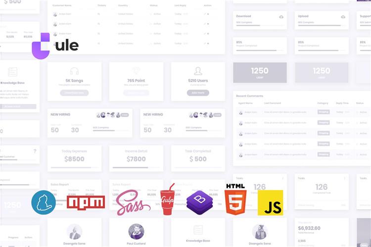Bootstrap 4的后台仪表板HTML模板
