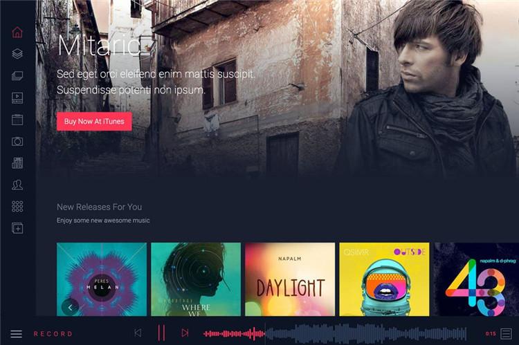 在线音乐网站官网HTML响应式bootstrap模板