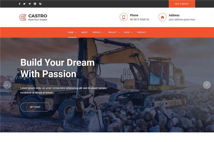 建筑房地产建筑材料企业官网Bootstrap框框HTML模板