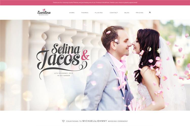 婚礼活动HTML响应式Bootstrap 3模板