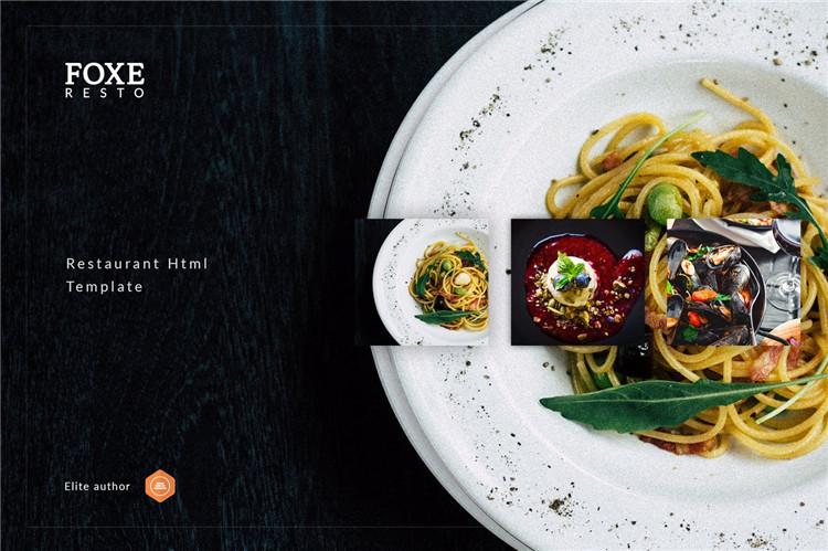 餐饮食品公司官网HTML模板Bootstrap构建