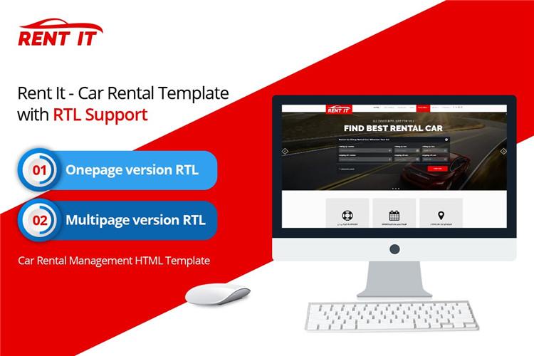 Bootstrap模板汽车租车公司HTML模板