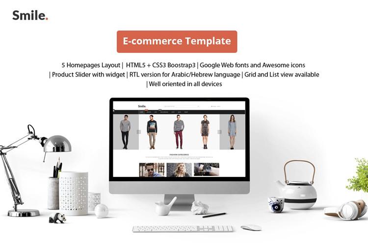 HTML服装电子商务Bootstrap模板