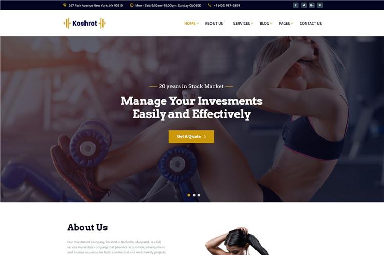 健身项目健身房企业官网Bootstrap模板