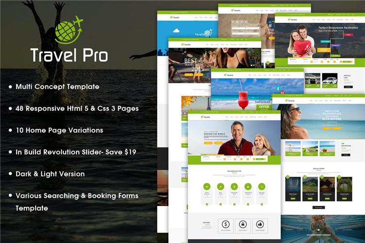 旅行社购票预订网站HTML响应式Bootstrap模板模板